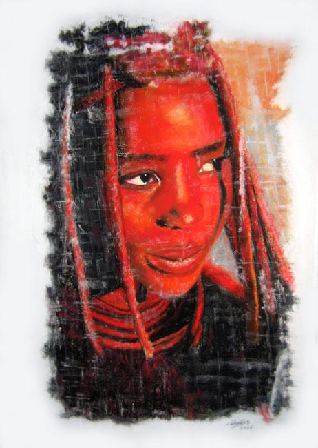 Jeune Himba - pastel
